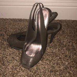 Bebe slingback heels size 8